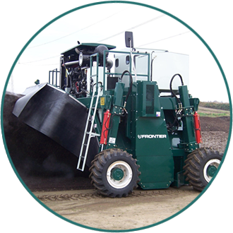 Why Frontier? Our patented, unique designs are the toughest compost windrow turners in existence.