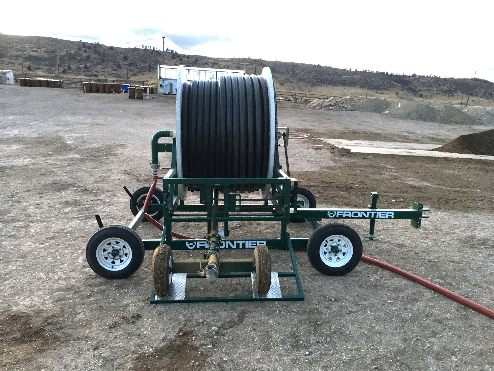 compost windrow watering systems